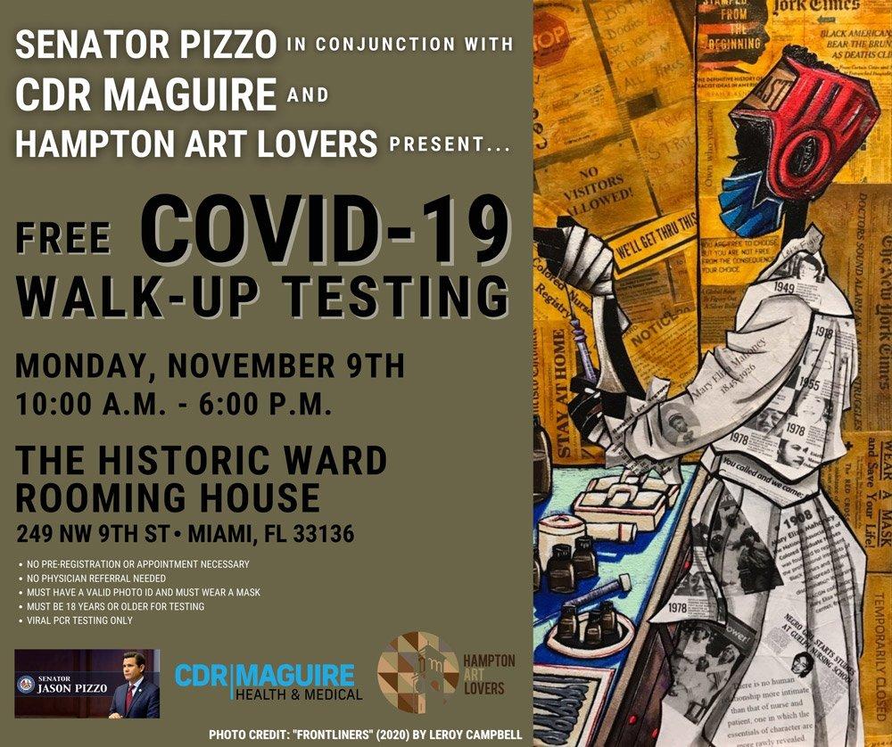 Hampton Art Lovers Pop Up Test Site Flyer